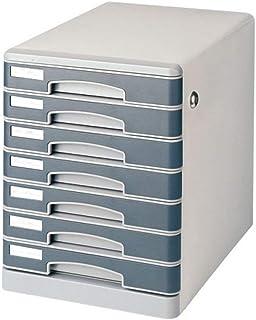 KANJJ-YU Bureau gris Shell 7 compartiments Document d'information Fichier verrouillables Bibliothèque Dépôt de données Cab...
