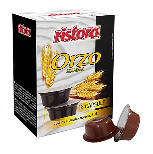Capsule Ristora Orzo Espresso 48 cialde compatibili macchine caffè Lavazza A Modo Mio