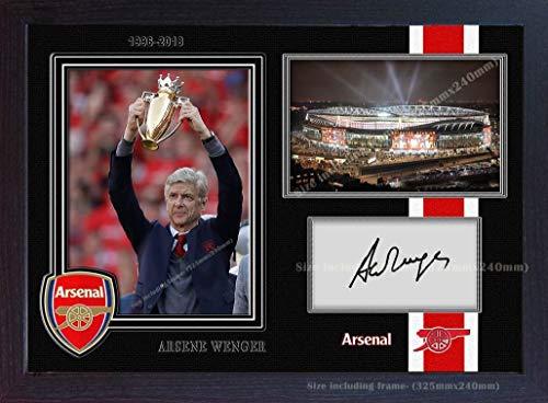 SGH SERVICES Autogramm, Arsene Wenger Arsenal Manager, signiertes Autogramm mit Arsenal signiertes Autogramm, Gedrucktes Fußball-Memorabilia, vorgedrucktes Autogramm, gerahmtes Foto-Poster #2