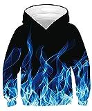 TUONROAD Sweatshirt Niño 3D Impreso Hoodie Pullover Unisex Sudaderas con Capucha Manga Larga Sweater Hoody 12-14 Años