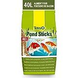 Tetra Pond Sticks – Alimentation Quotidienne idéale pour tous les Poissons de Bassin – Enrichi en Oligo-éléments, Vitamines essentiels, Caroténoïdes – Ne pollue pas l'eau - 40L