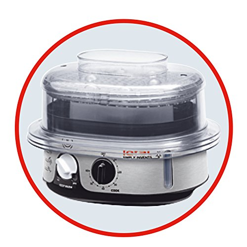 Tefal Simply Invents Steamer, 3 Dismantlable Plastic Bowls, Stainless Steel