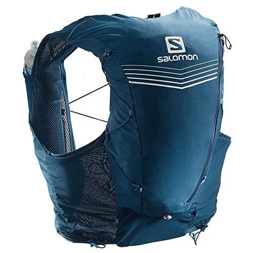 SALOMON Advanced Skin 12 Set Unisex Trail Running Vest Rucksack, Unisex, Poseidon Nachthimmel, Medium