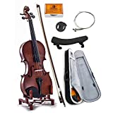 SKY 3/4 Size Student Violin with Lightweight Case, Brazilwood Bow, Rosin Cake, Shoulder Rest, String, Rosin and Mute GREAT STARTER KIT