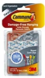 3M Command Plastic Round Cord Clip (Clear, 4 Clips, 5 Strips)
