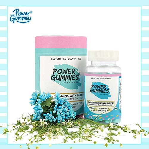 Power Gummies Hair Vitamin with Biotin (Blue)-60