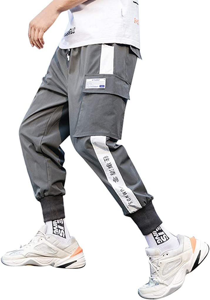 Men Joggers Pants Multi-pocket Elastic Waist Harem Pants Men Hip Hop Streetwear Sweatpants Pencil Pants Techwear