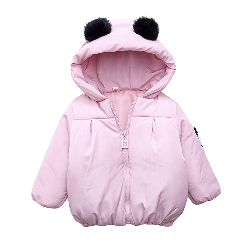 Toddler Baby Cartoon Long Sleeve Winter Warm Windproof Hooded Down Coat uvvqirdz700798