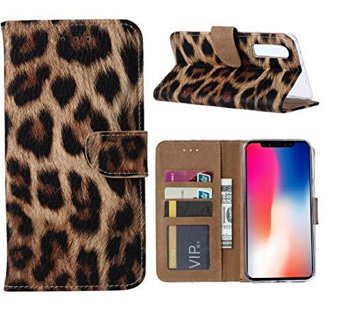 Apple iPhone 11 Pro Max Portemonnee Hoesje - Luipaard Ntech