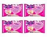 Brachs Heart 2 Heart Tiny Conversation Hearts Candy Valentines Day Hearts - 5 Assorted Flavors - Banana, Orange, Grape, Cherry, and Lemon - 14.5 oz Per Bag - Choose a 3, 4, or, 6 Pack (4 Pack)