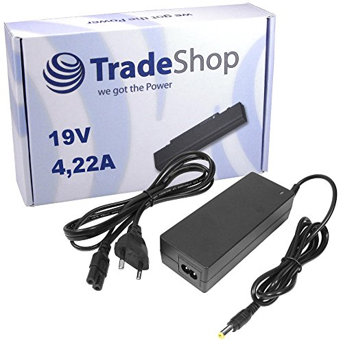 Notebook Laptop Netzteil Ladegerät Ladekabel Adapter 19V 4,22A 80W inkl. Stromkabel für Fujitsu-Siemens Lifebook A531 A1130 AH530 AH531 AH532 AH550 S7210 C1320 C1410 E751 E780 E781 E8020 E8020D E8110 E8210 E8310