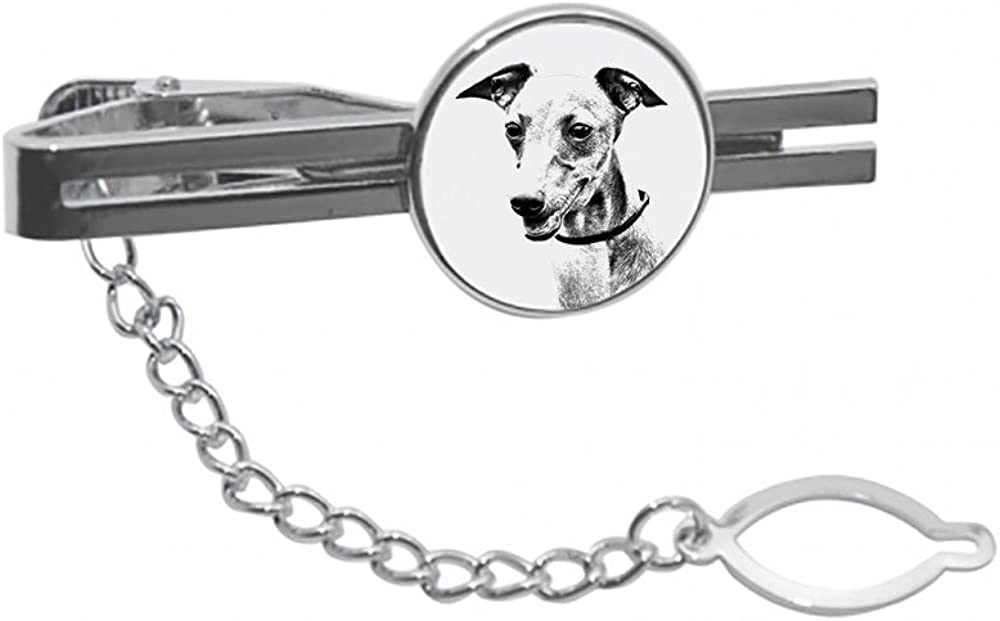 Azawakh tie pin Clip with an Image Casua 2021 spring and summer new Elegant a of Dog Large special price !!