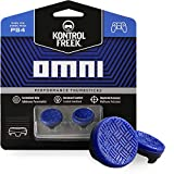 KontrolFreek Omni for PlayStation 4 (PS4) Controller | Performance Thumbsticks | 2 Low-Rise Concave | Blue