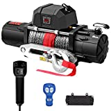 ZEAK 13000 lb. Premium Electric Winch 12V Waterproof Synthetic Rope, Wireless Remote, for Truck SUV