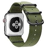 AIGENIU Apple Watchナイロン バンド アーミーグリーン