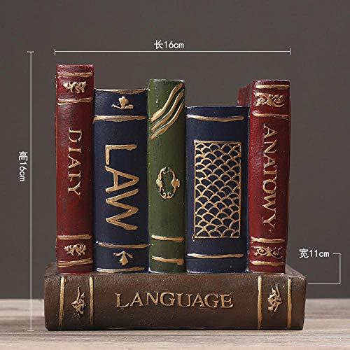 Ayhuir - Soporte para bolígrafos de escritorio creativo, diseño de personalidad, multifunción, para decoración del hogar, oficina, artículos de regalo, color rojo