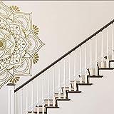 LSMYM Religión Mandala Etiqueta de la pared decorativa Decoración del hogar Sala de estar Habitación para niños Calcomanías de yoga Decoración del dormitorio Papel tapiz Verde L 43cm X 86cm