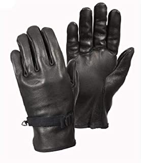 Black Leather D-3A Leather Tactical Usmc Us Military Airsoft Paintball Gloves