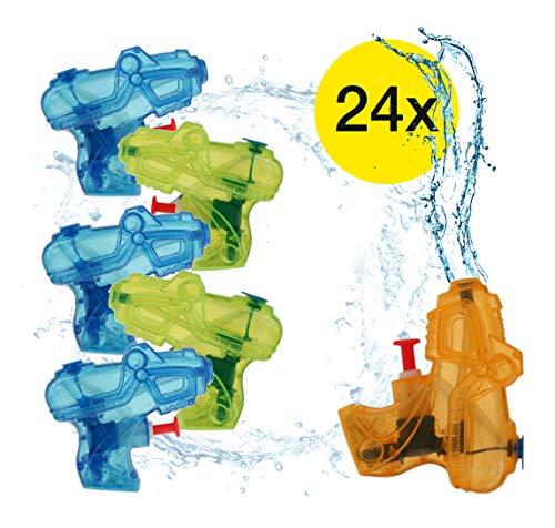 TK Gruppe Timo Klingler 24x Wasserpistolen bunt klein & praktisch, für Kinder als Mitgebsel, Mitbringsel, Giveaway, Kindergeburtstag