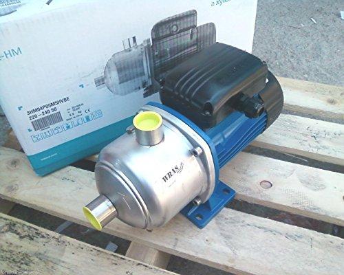 Pumpe Hauswasserwerk Lowara Schleuderdrehzahl mehrstufiger Umkehr HP 0,6V220Edelstahl 3hm03p05m