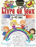 Livre de jeux pour enfants 6-10 ans: Cahier d'activités multi-jeux pour enfants avec des jeux intelligent, labyrinthes, point par point, trouve les ... Cahier d'activités à la maison Grand format