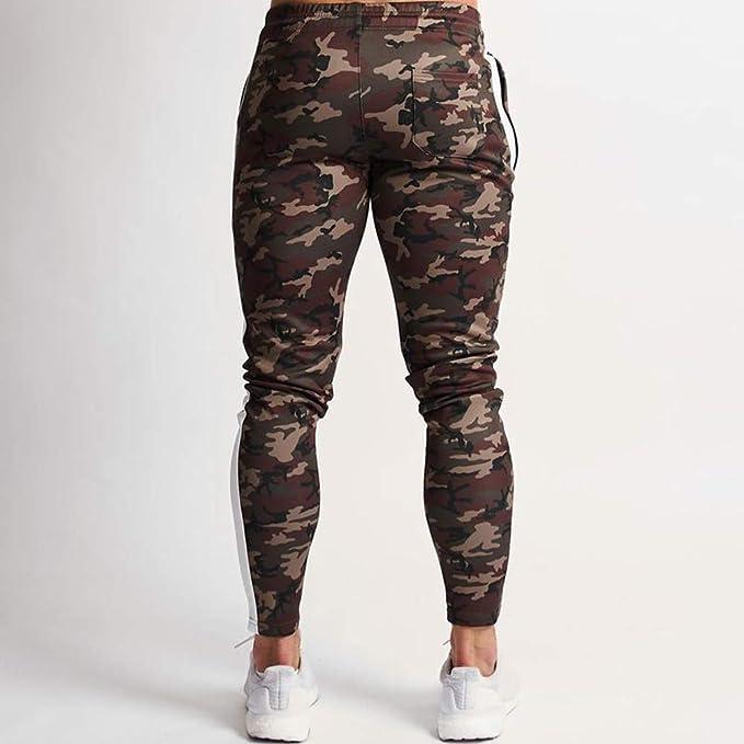 Morbuy Casual Ceinture /Élastique Poches Surv/êtement Pantalons pour Running Jogging Entra/înement Gym Fitness Bodybuilding Boxe Pantalon de Sport Homme Slim Fit M,Kaki