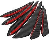 ZHANGJN Spoiler 6Pcs / Set Universal Fit Parachoques Delantero Difusor De Labios Divisores Aletas Body Spoiler Canards Chin Car Tuning (Color: 4Pcs)