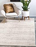 Unique Loom Del Mar Collection Contemporary Transitional Area Rug, 6 x 9 Feet, Beige/Brown