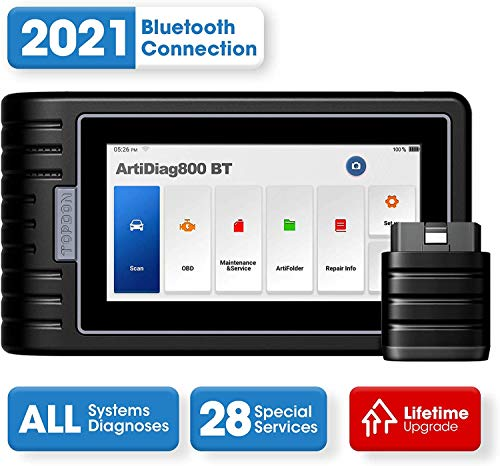 Diagnostic Tool TOPDON ArtiDiag800BT OBD2 Scanner All Systems Scan Tool, 28 Maintenance Services...