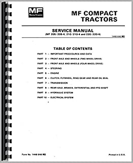 Service Manual Massey Ferguson 205 210 220 205-4 210-4 220-4 Tractor