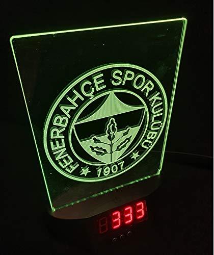 FENERBAHCE ISTANBUL Led Tischlampe Neonschild Schild 3D Neon mit Uhr und Wecker USA