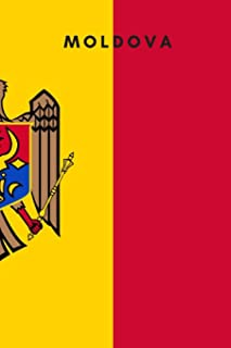 Moldova: Country Flag A5 Notebook to write in with 120 pages
