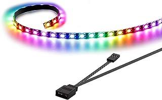 Speclux Addressable LED Strip, RGB LED Strip, Tira LED para Caja de PC Gaming, 50cm(Solo Compatible con encabezado Add de 5 V y 3 Pines)
