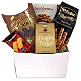 Christmas, Holiday, Birthday, Thank-You Gift Basket with Truffles, Cookies, Chocolate Wafers and More