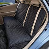 ZQ Dog Car Seat Covers - Nonslip Rear Seat Cover for Pets Waterproof Pet Bench Seat Cover...