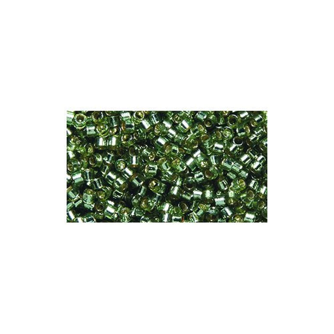 Miyuki Delica Seed Bead 11/0 DB2163, Duracoat Silver Lined Willow, 9-Gram/Pack