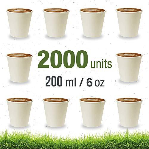 Soul Forest – recyclebare kartonnen bekers 200 ml – verpakking wegwerpbekers, biologisch afbreekbaar, voor koffie met melk, koffie en water