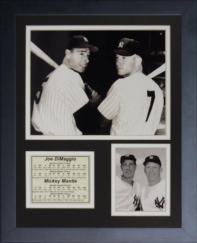 Legenden Sterben Nie  Joe DiMaggio und Mickey Mantel  gerahmtes Foto Collage, 11x 35,6cm von Legends Never Die