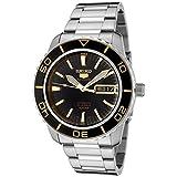 Seiko Men's SNZH57 Seiko 5 Automatic Black Dial Stainless-Steel Bracelet Watch