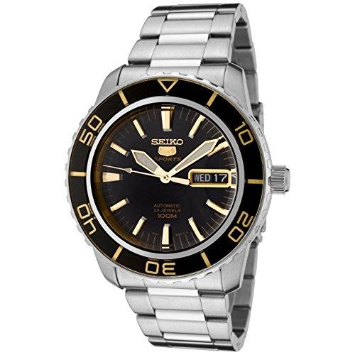 Seiko Herren Analog Automatik Uhr mit Edelstahl Armband SNZH57