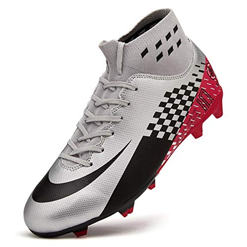 ZYJ Men's Athletic Soccer Football Cleats, High-Top Football...