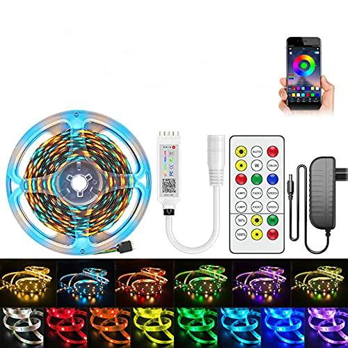 Iluminación de la habitación de Bluetooth LED Cinta Cinta de diodo Decoración flexible de la habitación