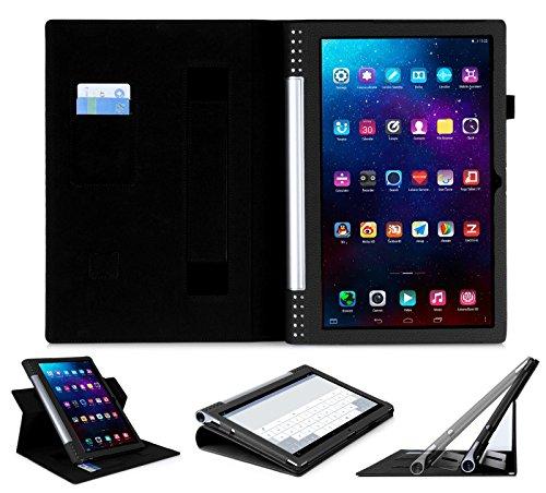 ISIN Tablet Fall Serie Premium PU-Leder Schutzhülle für Lenovo Yoga Tablet 2 Pro 13.3 Zoll 1380 mit Handschlaufe und Kartenschlitz (Schwarz)