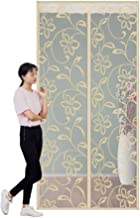 Magnetische Hordeur, Velcro Seal Automatisch eenvoudig te installeren Deurraam Mesh Curtain (Color : Beige, Size : 90×200cm)