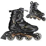 Nils Extreme Herren Damen Inliner Inlineskates | 82A Rollen | ABEC9 Chrome Kugellager | Unisex Fitness Skates für Erwachsene |Schwarz (45)