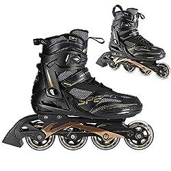 Nils Extreme Herren Damen Inliner Inlineskates | 82A Rollen | ABEC9 Chrome Kugellager | Unisex Fitness Skates für Erwachsene |Schwarz (43)