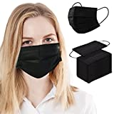 100PCS Black Disposable Face Mask Breathable Safety Masks for Adult, 3 Ply, Pleated, Solid Colors 3 Layers Protection: NaineLa Made with soft, breathable fabric.3-Layers protection design uses a cotton inner layer, melt-blown fabric in middle-layer f...