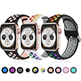 Ouwegaga Pack 3 Correa de Repuesto Compatible con Apple Watch 44mm...