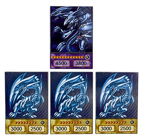Orica Karten-Set: Blauäugiger ultimativer Drache & 3 Blauäugige weiße Drachen Common Karten im Yugioh! Anime Design | inkl. 100 Arkero-G Small Card Sleeves