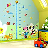 Smart Art Disney Mickey Mouse Messlatte Wandaufkleber